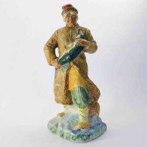 Гипсовая статуэтка Кунгур Емеля с щюкой