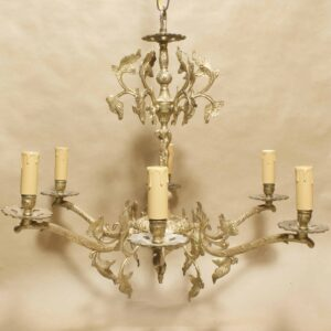 Антикварная бронзовая люстра 6 лампочек, Европа