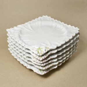 Винтажные квадратные сервировочные тарелки