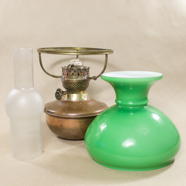 керосинка зелёное стекло антиквариат