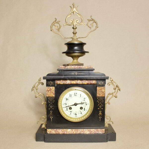 Антикварные каминные часы мрамор