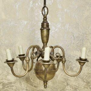 Антикварная люстра 5 лампочек 15781