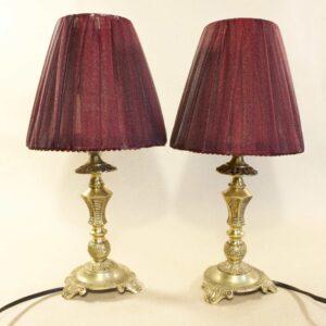 Пара прикроватных светильников бронза 15786