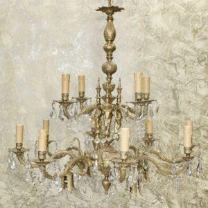 Антикварная люстра Ангелы 16 свечей 15894