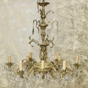 Антикварная люстра Путти 9 свечей 15936