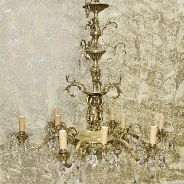 Антикварная люстра 9 свечей 15936