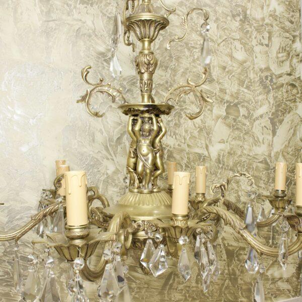 люстра 9 свечей антикварная 15936