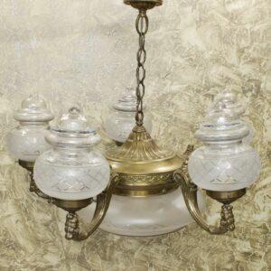 Антикварная люстра на 6 ламп 16001