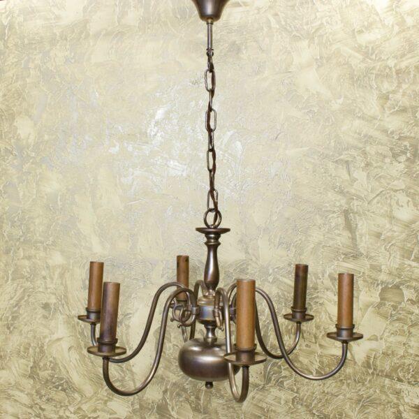 Антикварная люстра на 6 свечей 15959