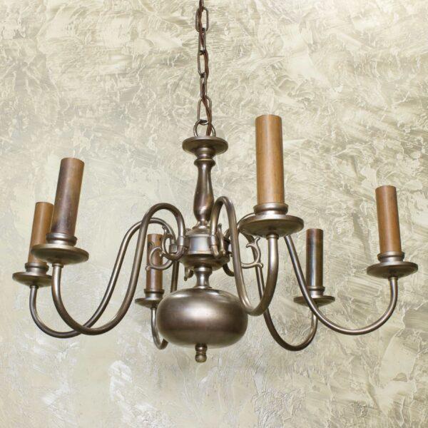 Антикварная люстра 6 ламп 15959